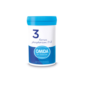 Omida Schüsslersalz Nr. 3 Ferrum phosphoricum D12
