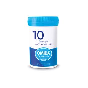 Omida Schüsslersalz Nr. 10 Natrium sulfuricum D6 Tabletten