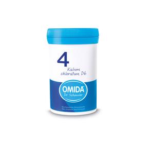 Omida Schüsslersalz Nr. 4 Kalium chloratum D6