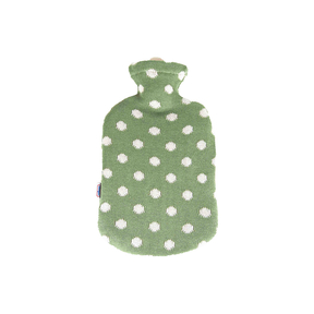 Sänger Wärmeflasche grüne Punkte