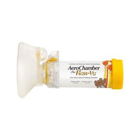 Aerochamber Plus Flow-vu mit Maske (1-5 Jahre) Gelb