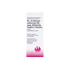 Phönix Schüssler Nr. 10 Natrium sulfuricum D6 spag. Glückselig