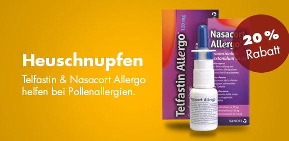 20 % auf Telfastin und Nasacort